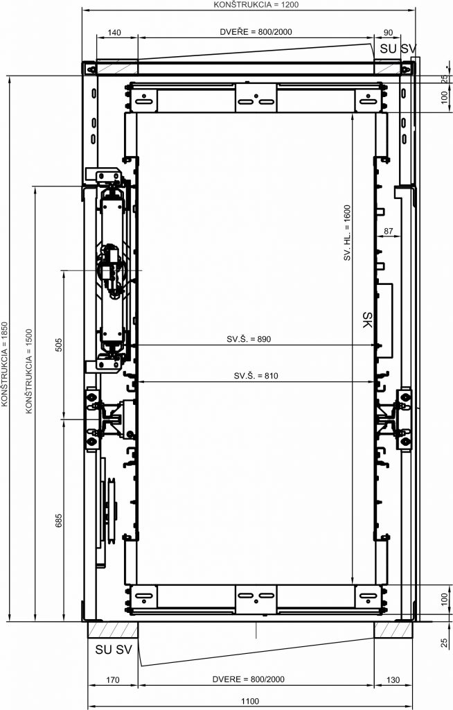 Nový výťah TOV 450 Priechodný